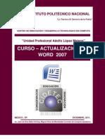 CIDETEC IPN Curso de Word 2011.