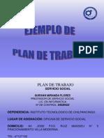 Ejemplo de Plan de Trabajo