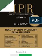 MPR Teva 2012 Health Systems Pharmacy Drug Reference