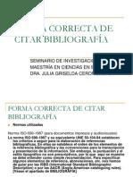 Forma Correcta de Citar Bibliografías