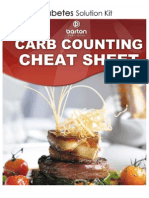 Carb-Counting Cheat Sheet
