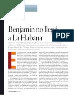 Benjamin No Llego a La Haban
