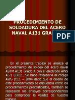 Soldadura Del Acero Naval a131 AWS