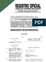 RO Ley derogatoria No. 3 para la depuración de la normativa legal (30-11-10)