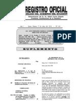 Ley Reformatoria a la Ley de Hidrocarburos y a la Ley de Régimen Tributario Interno