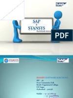 SAP Training Details