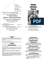 December 16, 2012 Church Bulletin