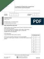 CIE question paper