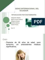 Intoxicacion paracetamol o acetaminofen