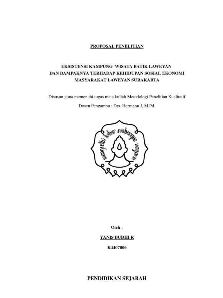 Contoh Proposal Skripsi Kualitatif Dan Kuantitatif