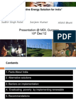Alternative energy solution and Rural Electrification for India