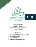 Dody Firmanda 2013 - Sidang Pleno Komite Medik 7 Januari 2013 - Evaluasi 2012 & Rencana Kerja 2013