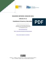 Informe Horizon K12 Primaria Secundaria ITE Septiembre2011