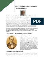 Crónica Nº-85-Org.Port.(15)- António Francisco da Silva Porto