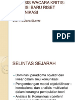 Analisis Wacara Kritis (Pasca)