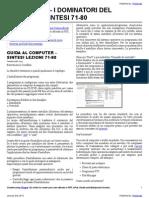 Guida al Computer - Sintesi Lezioni 71-80