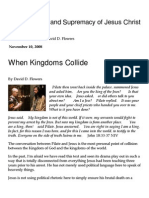 When Kingdoms Collide « The Centrality and Supremacy of Jesus Christ