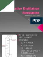 Reactive Distilation Simulation