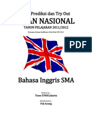 Soal Try Out Un 2012 Sma Bahasa Inggris Paket 06 Breads Nature