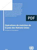 Operations de Maintien de La Paix