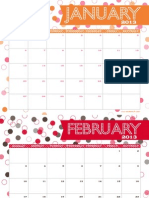 Anders Ruff 2013 Free Printable Monthly Calendar