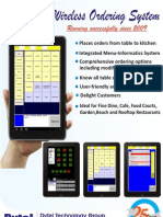Dyne WiFi POS software for restaurants