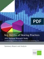 CCMC_Phonak_2011 Benchmarking Summary Report