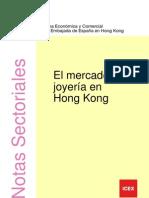 2012 Nota Sectorial. El Mercado de La Joyeria en Hong Kong