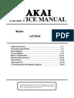 Akai LCT2016 Service manual