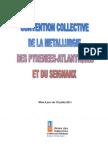 Convention collective de la métallurgie des Pyrénées Atlantique et du Seignanx