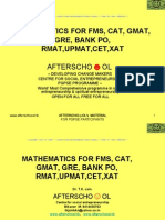 Mathematics for Fms, Cat, GMAT, GRE, Bank Po, Rmat,Upmat,Cet,Xat2
