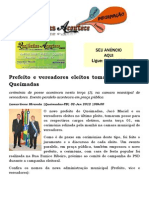 Prefeito e vereadores eleitos tomam posse em Queimadas