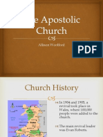Apostolic Church. A. Woolford
