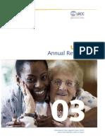 UICC Annual Report 2003