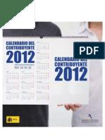 Calendario AEAT del contribuyente 2012