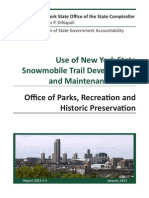 NYS Comptroller audit of snowmobile maintenance fund