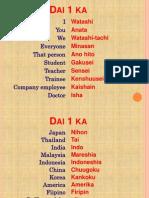 Basic Japanese Vocabularies