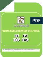 ESTRUCTURA DE FRASES UD. LOS ANIMALES (ARTÍCULO/SUSTANTIVO)