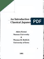 An introduction to Classical Japanese (Komai).pdf