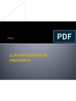 i Classification of Property