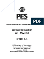 4th Sem Course Info