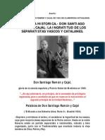 Escrito de Santiago Ramon y Cajal de 1934