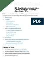 Mrunal.org-Studyplan CSIR Combined Administrative Service Exam CASE Booklist Strategy Studymaterial Download PDF