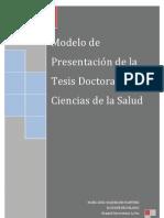 Modelo de tesis doctoral en ciencias de la salud