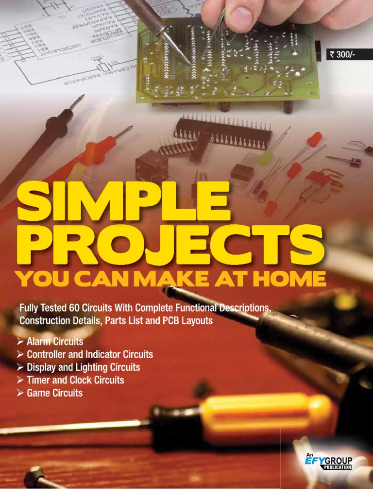 Simple Projects You Can Make At Home Gnv64 Electronic Circuits Car Alarm Circuit Diagram Using 555 Timer Switch