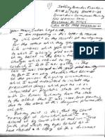 Jeffrey Franklin Prison Letter