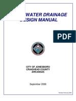 storm drainage design manual