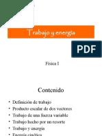 Trabajo y energía . fisica I
