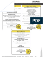 Menu para grupos Particulares (ESP)