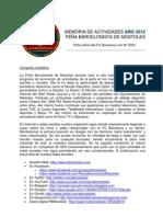 Publicacion Memoria Actividades Pbm 2012